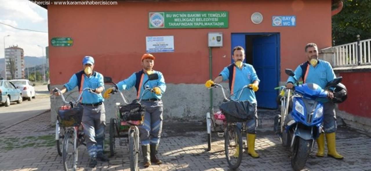 Kayseri'de Temizlikte Bisiklet Dönemi