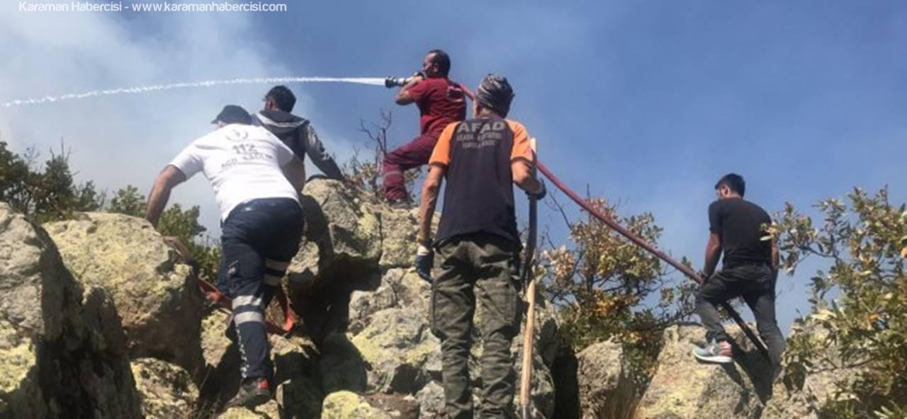 Aksaray'da Orman Yangını Saatler Sonra Kontrol Altına Alındı