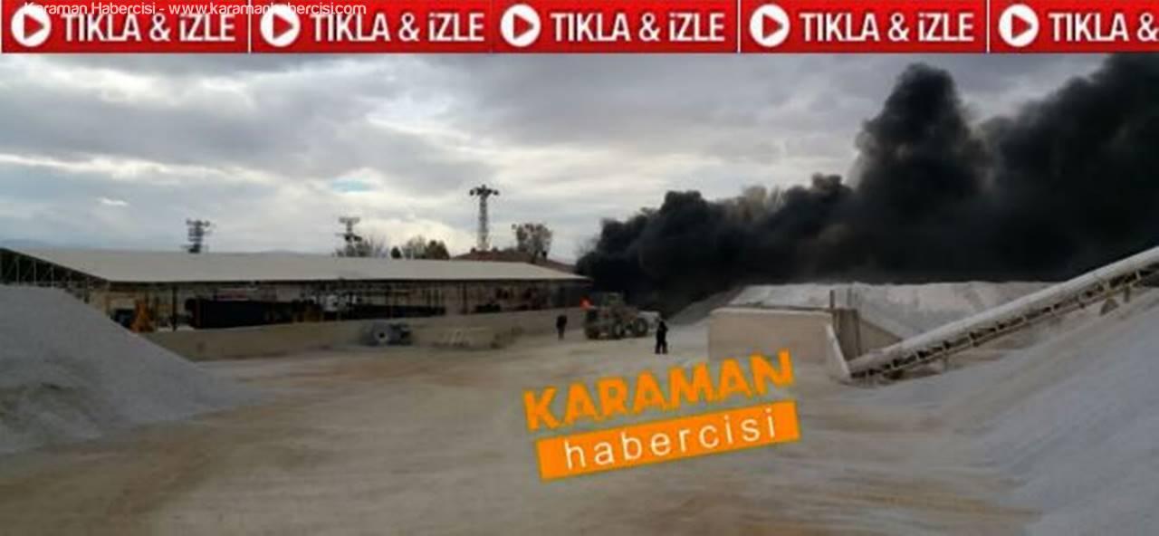 Karaman Belediyesi BESKO Deposunda Yangın