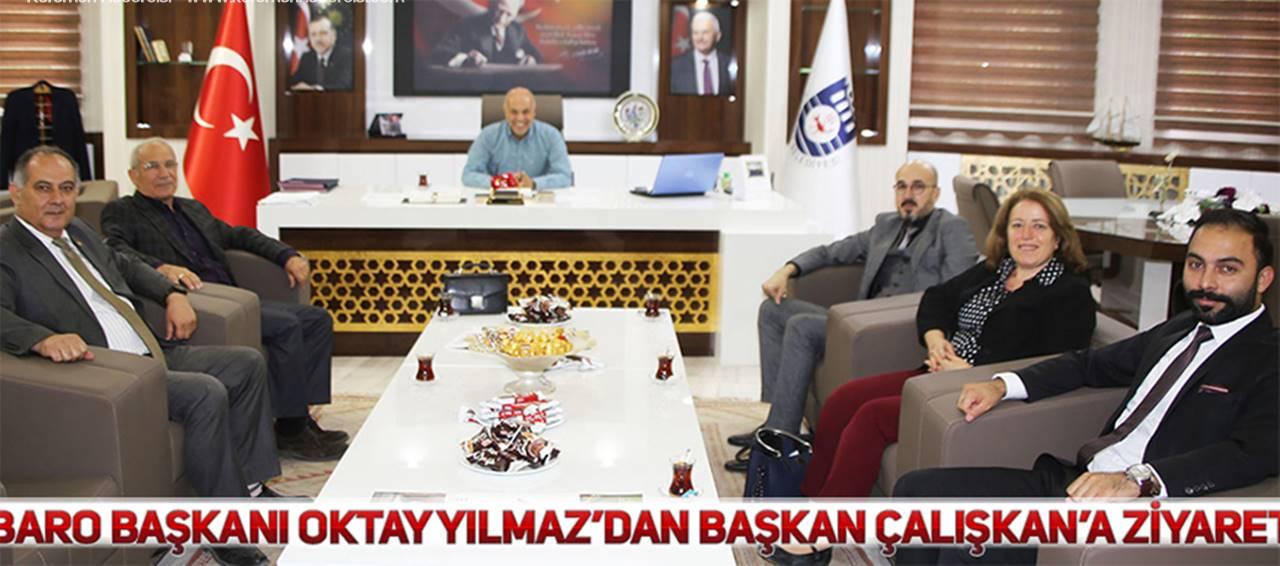 Karaman Barosundan Başkan Çalışkan'a Ziyaret