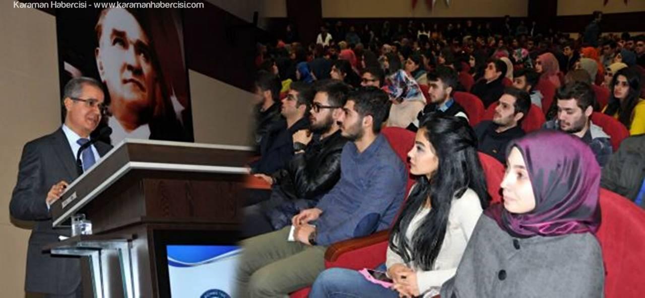 Karaman Valisi Süleyman Tapsız, KMÜ Öğrencileriyle Buluştu