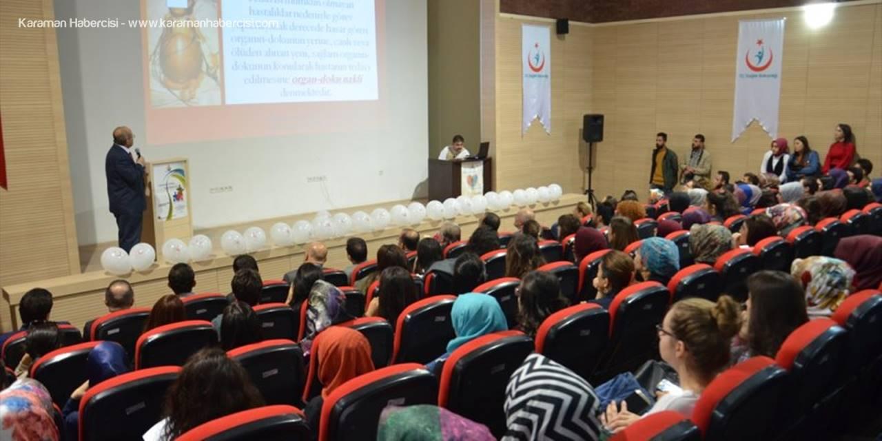 Karaman'da Organ Bağışı Haftası Etkinlikleri