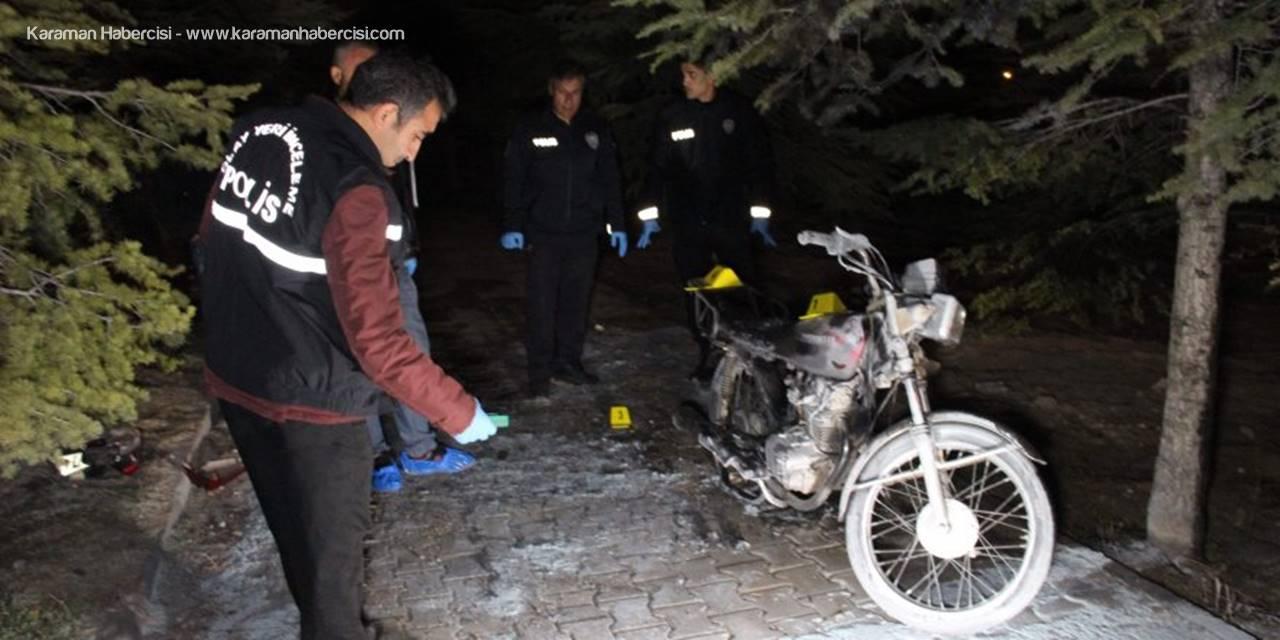 Karaman'da Yanan Motosiklet Çalıntı Çıktı