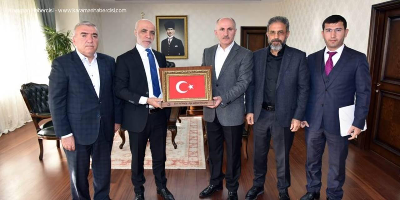 Öz Büro İş Sendikası Genel Başkanı Gülbaba'dan Vali Meral'e Nezaket Ziyareti