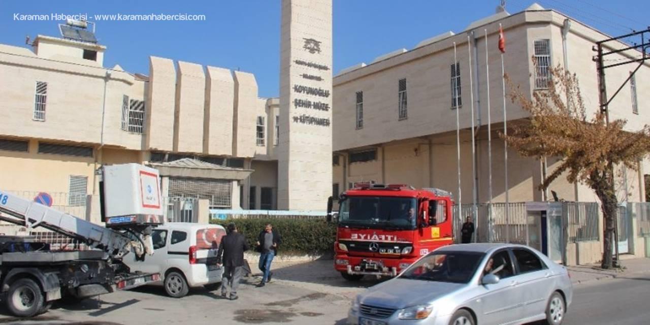 Konya'da Müze Tadilatında Yangın Paniği