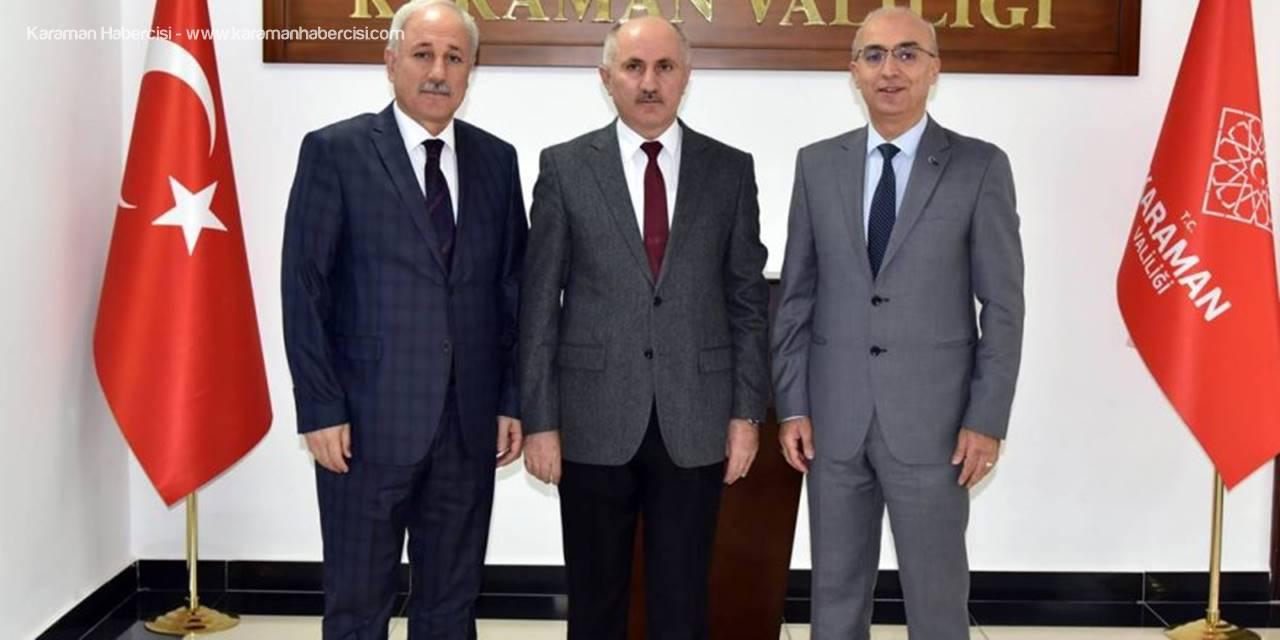 Türk Dil Kurumu Başkanından Vali Meral'e Nezaket Ziyareti