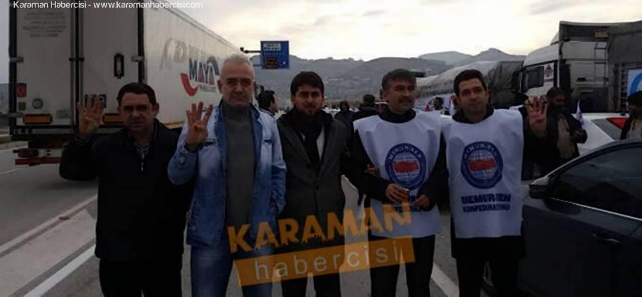 Karaman'dan Çıkan Halep Konvoyu Sınır Kapısında