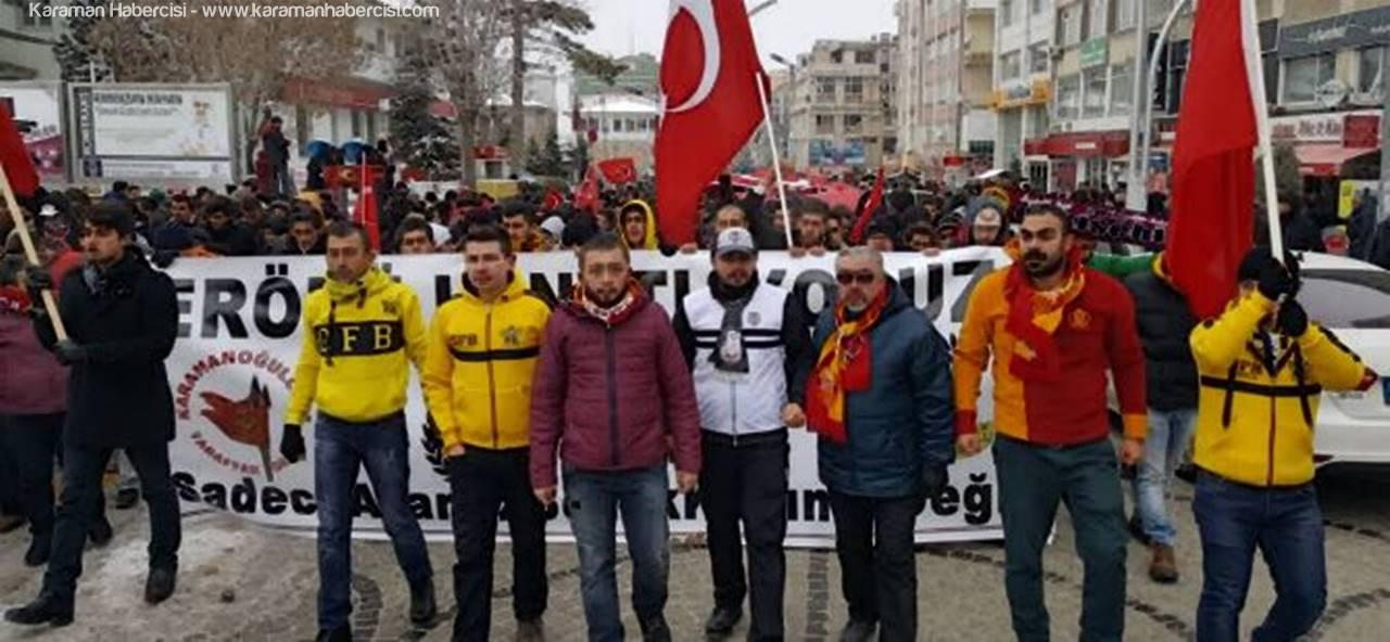 Karaman Belediyespor Maçına Kadar Yürüdüler