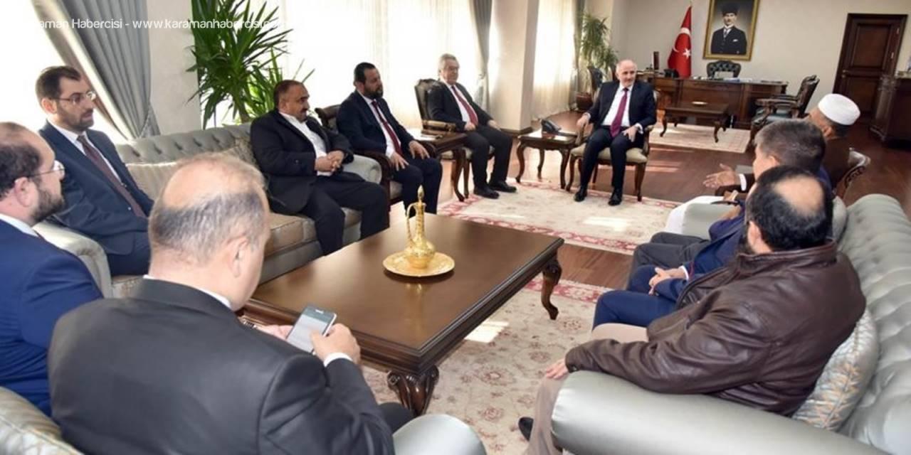 Yemen Büyükelçisi Bozgöz, Vali Meral'i Ziyaret Etti