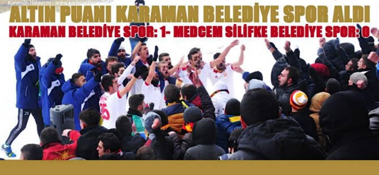 Karaman Belediyespor ile Medcem Silifke Belediye Spor Zirve İçin Yarıştı