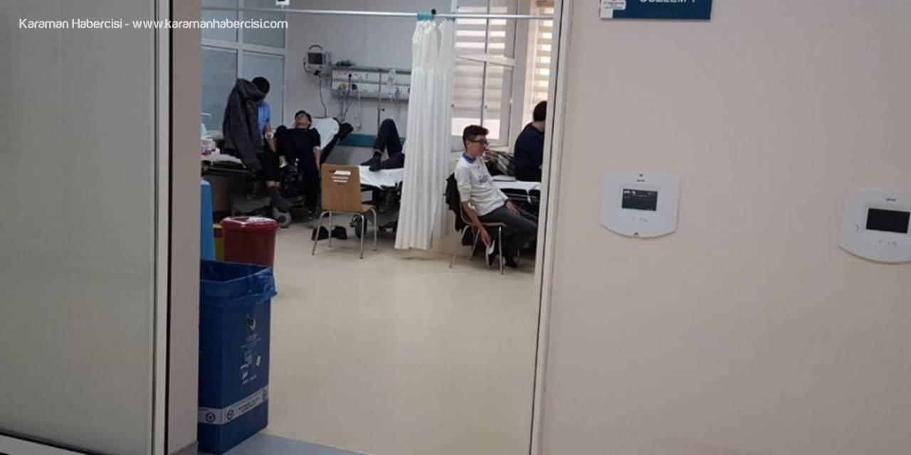 Ereğli'de  68 Öğrenci Hastanelik Oldu