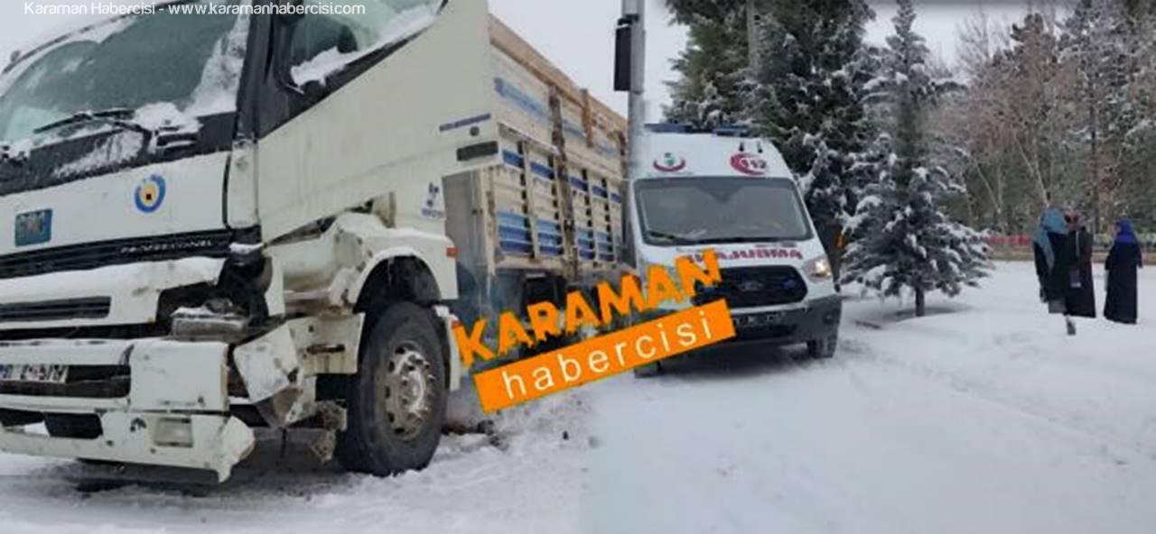 Karaman'da 4 Ayrı Yerde Trafik Kazası: 1 Yaralı