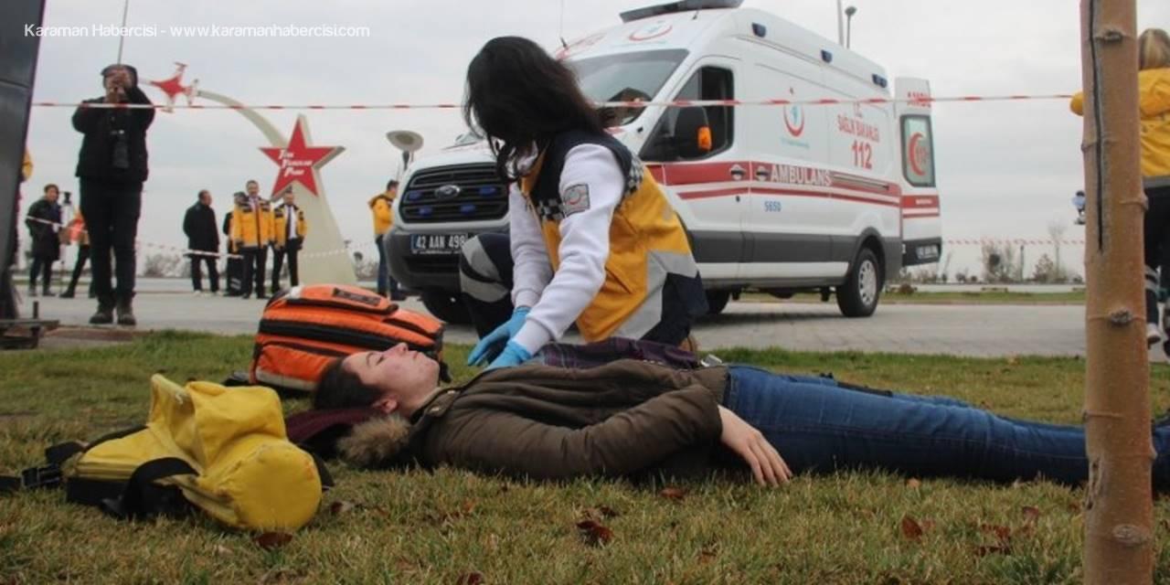 Karaman, Konya ve Aksaray Ambulansları Yarıştı