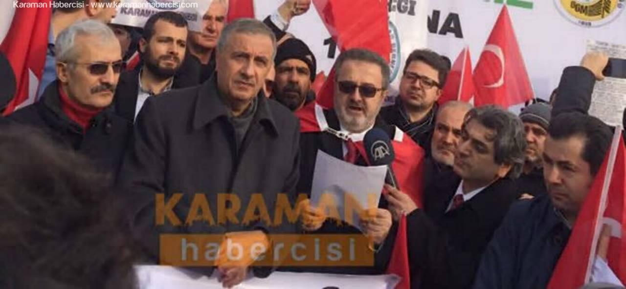 Konyalılar ve Karamanlılardan Teröre Ortak Tepki
