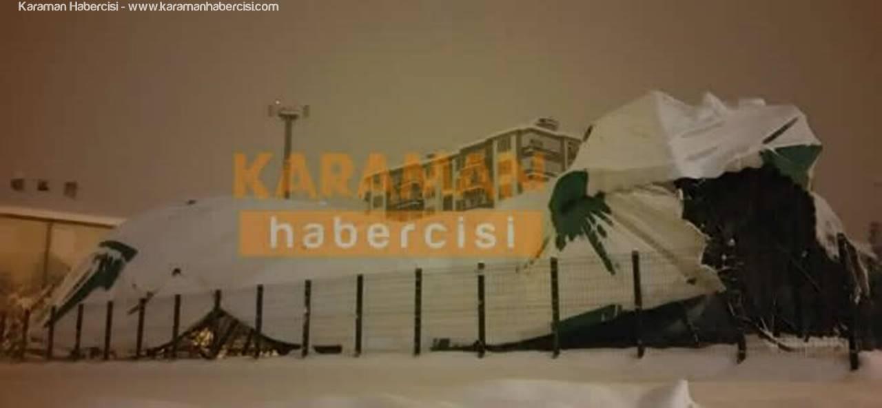 Karaman'da Halısaha Çöktü