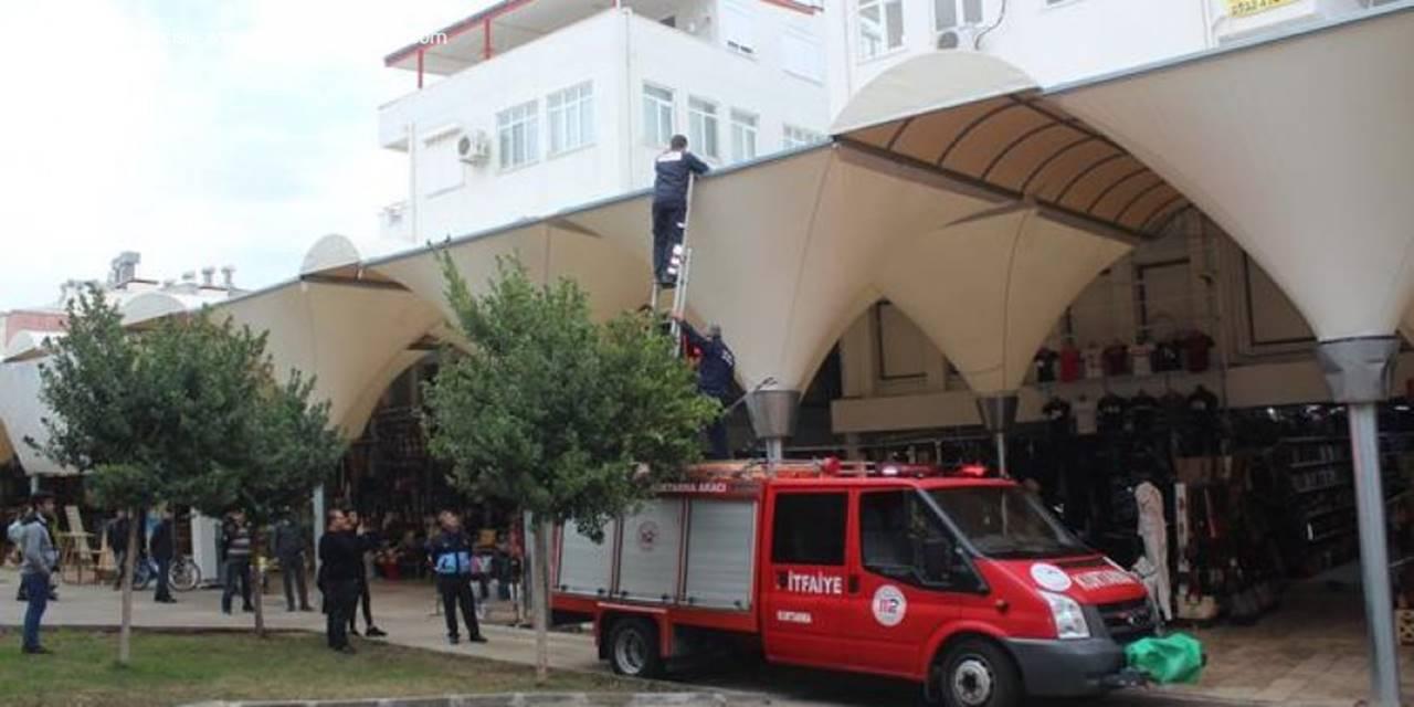 Manavgat'ta İtfaiye'nin Kedi Kurtarma Anı
