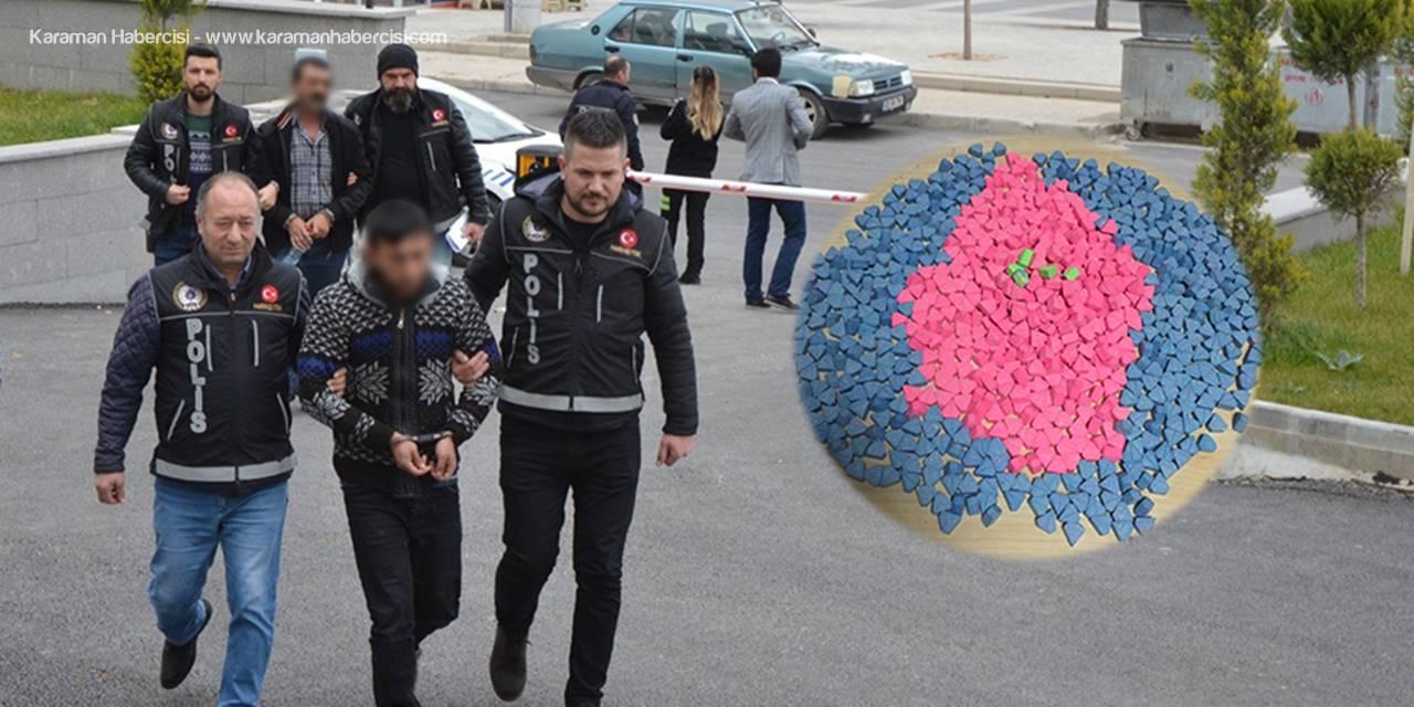 Karaman'da Uyuşturucu Hap Operasyonunda Babalı Oğullu Tutuklama