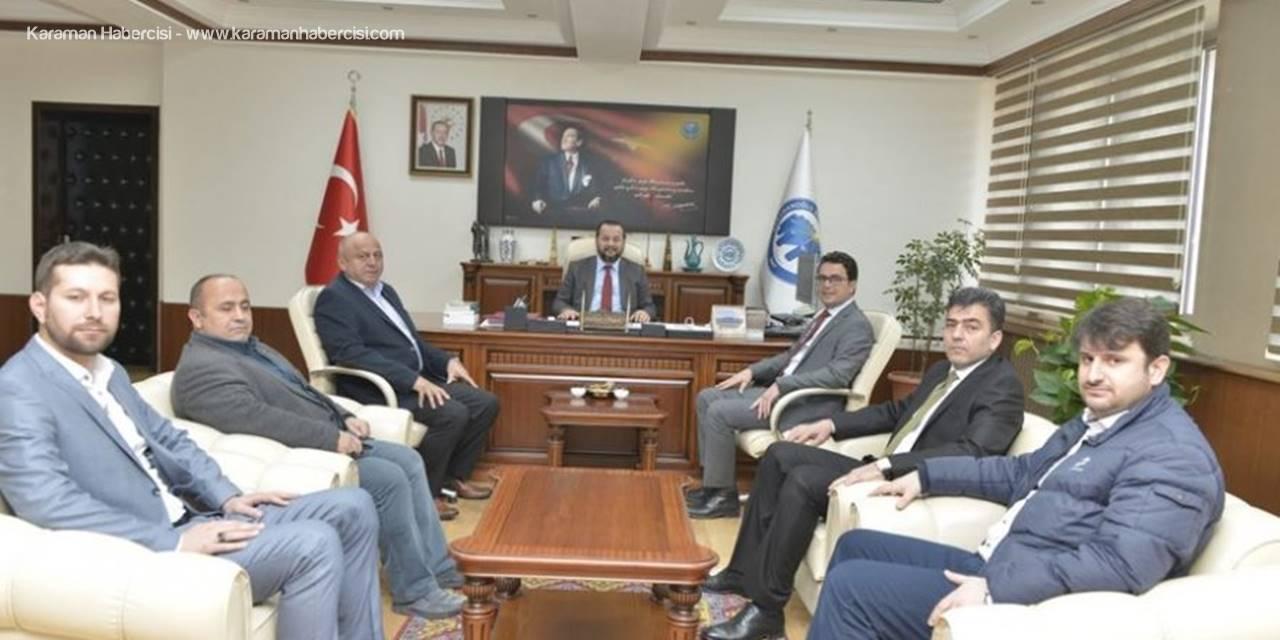 KTSO Başkanı ve Yönetim Kurulu Üyelerinden Rektör Mehmet Akgül'e  Ziyaret