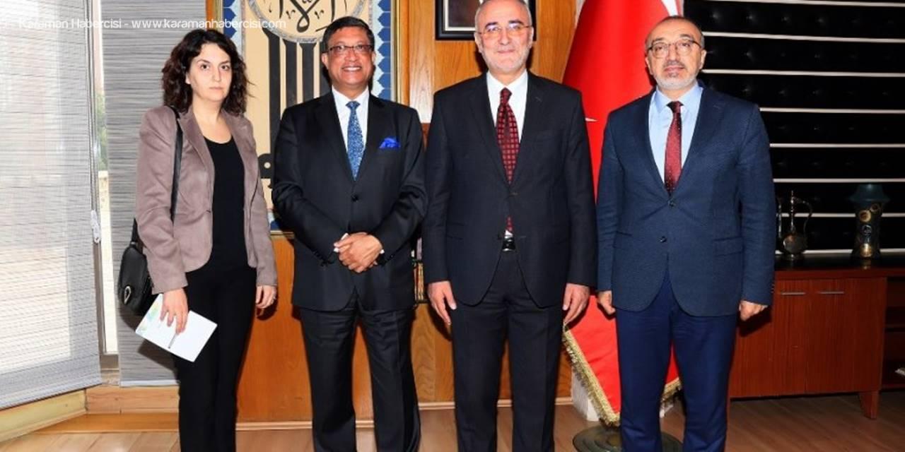 Hindistan Büyükelçisinden Konya Büyükşehir'e Ziyaret