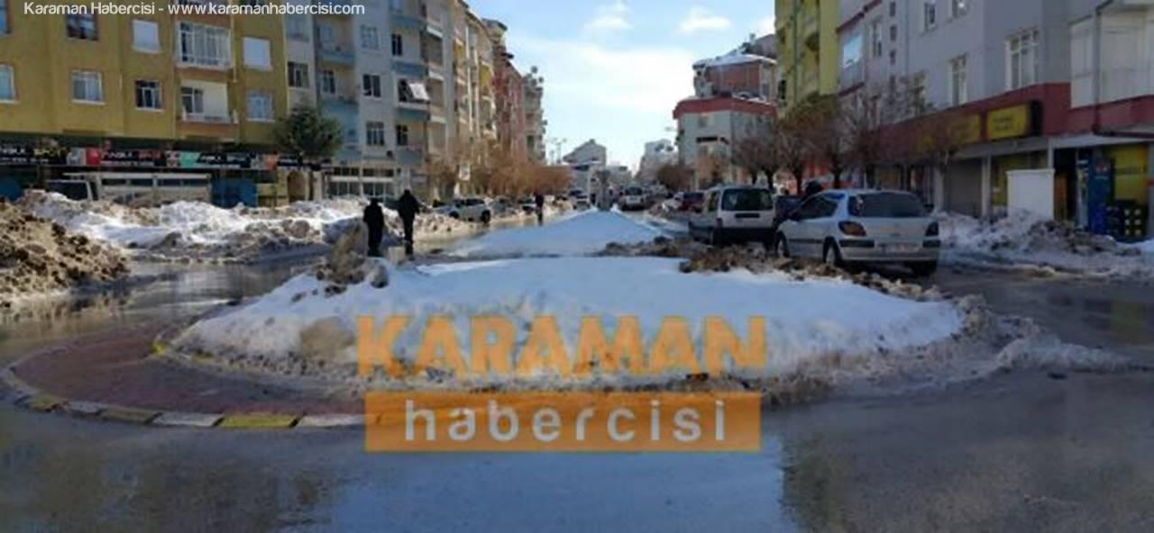 Karaman'ı Güneşli Bir Günün Ardından Karlı Bir Gece Bekliyor
