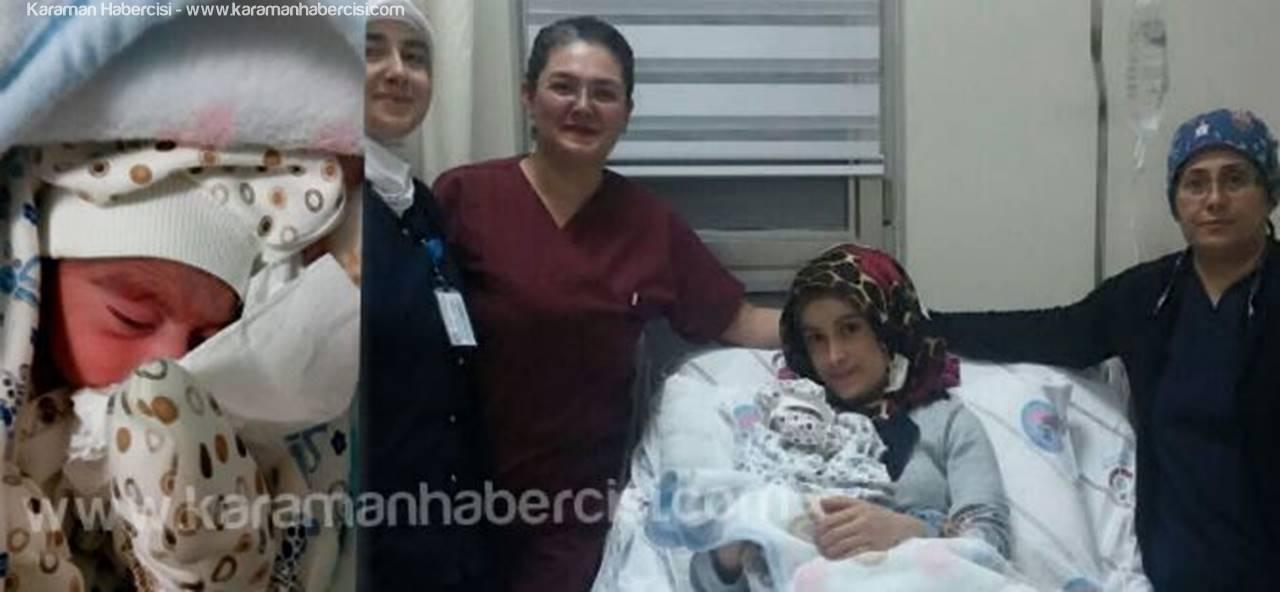 Karaman'da 2017'de İlk Doğan Bebek