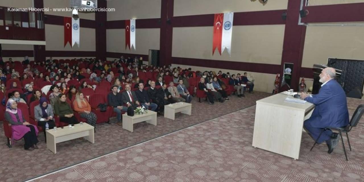 Karaman'da Sağlık ve Ahlak Konferansı