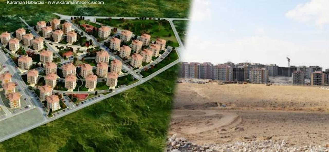 Karaman'da TOKİ İşçi Konutlarında Sözleşmeler İmzalanıyor