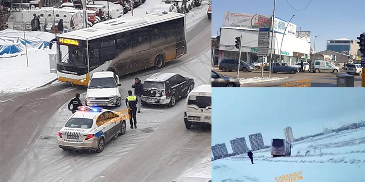 Karaman'da Üç Günlük Kar Ustalara Yaradı