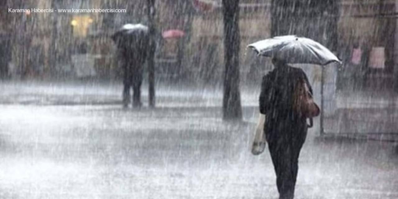 Antalya ve Mersin'de Kuvvetli Yağış Uyarısı