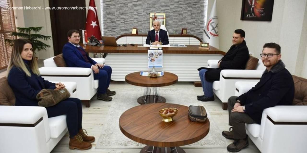 'KMÜ Çocuk Üniversitesi' İçin Karaman İl Milli Eğitim Müdürü Mevlüt Kuntoğlu'na Çalışmalar Hakkında Bilgi Verildi