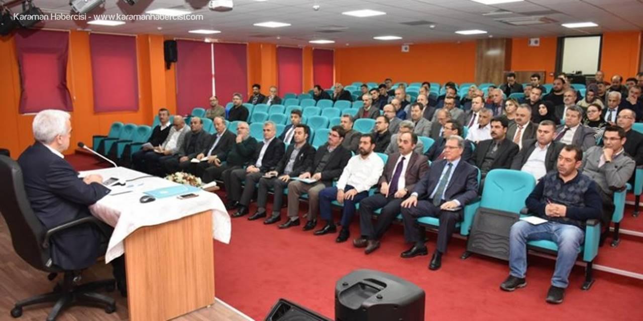 Karaman'da 2023 Eğitim Vizyonu Konuşuldu