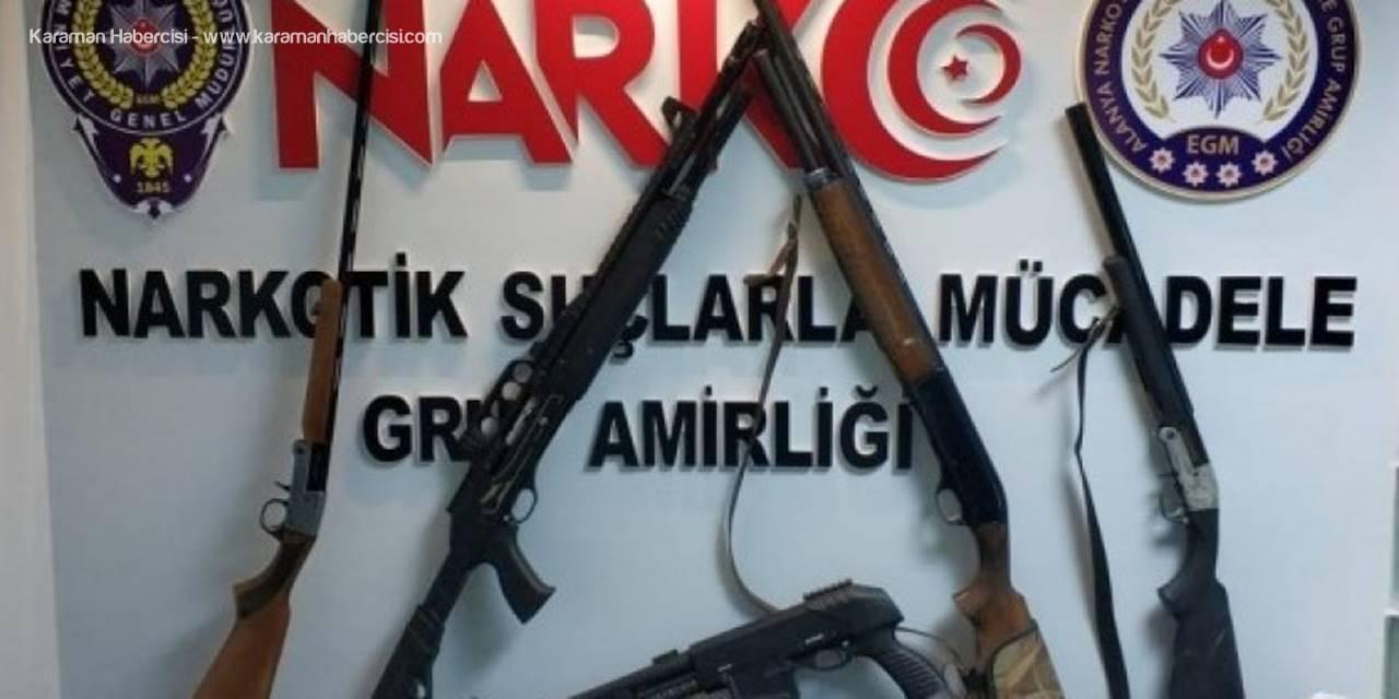 Antalya'da Uyuşturucu Tacirinin Evi Silah Deposu Çıktı