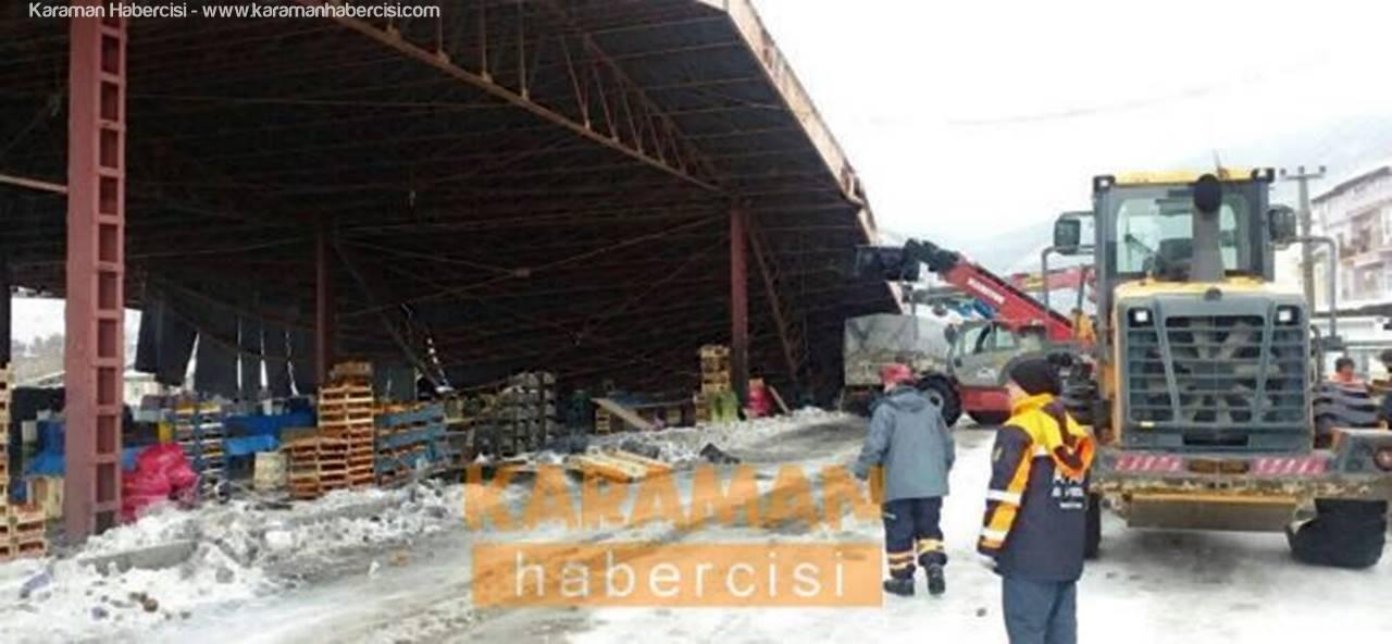 Konya'da Çöken Pazaryeri Çatısı Altında Yaralananlar Oldu