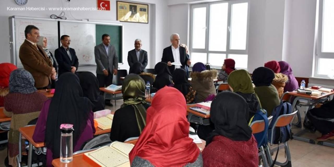 Karaman İl Milli Eğitim Müdürü Mevlüt Kuntoğlu Anadolu İmam Hatip Lisesini Ziyarette Bulundu