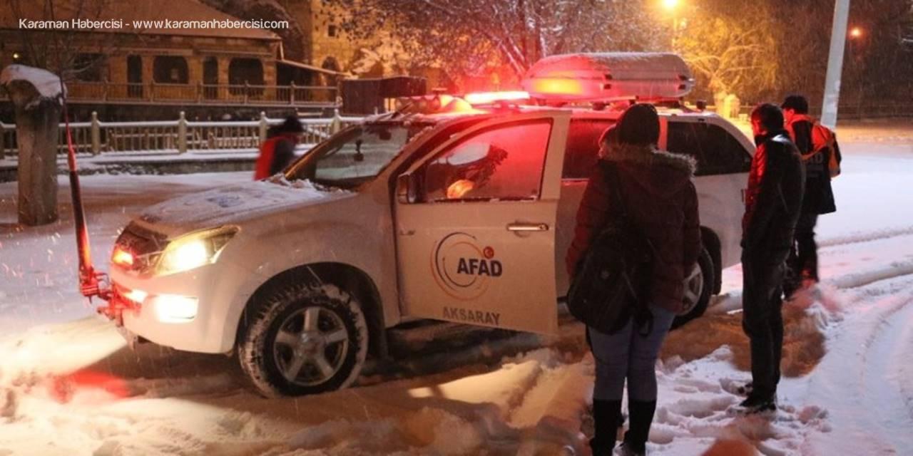 Aksaray'da Önce Kaybolan, Sonra Da Mahsur Kalan Öğrencileri Afad Kurtardı