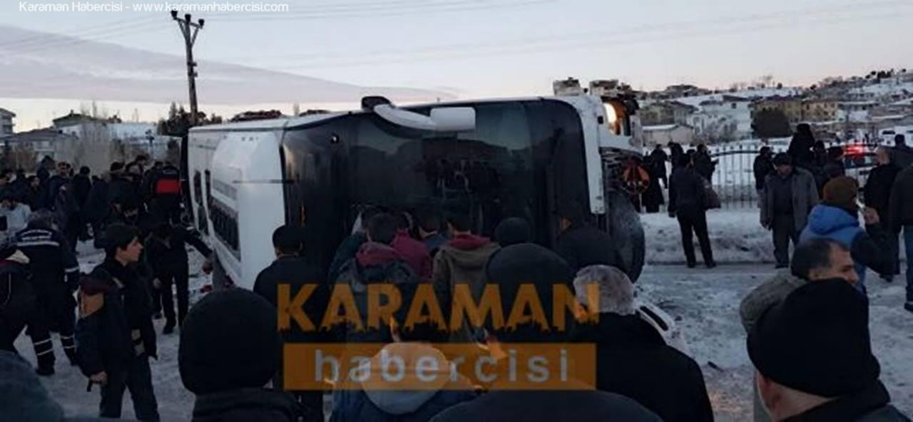 Konya'da Otobüs Devrildi, Ölü ve Yaralılar Var