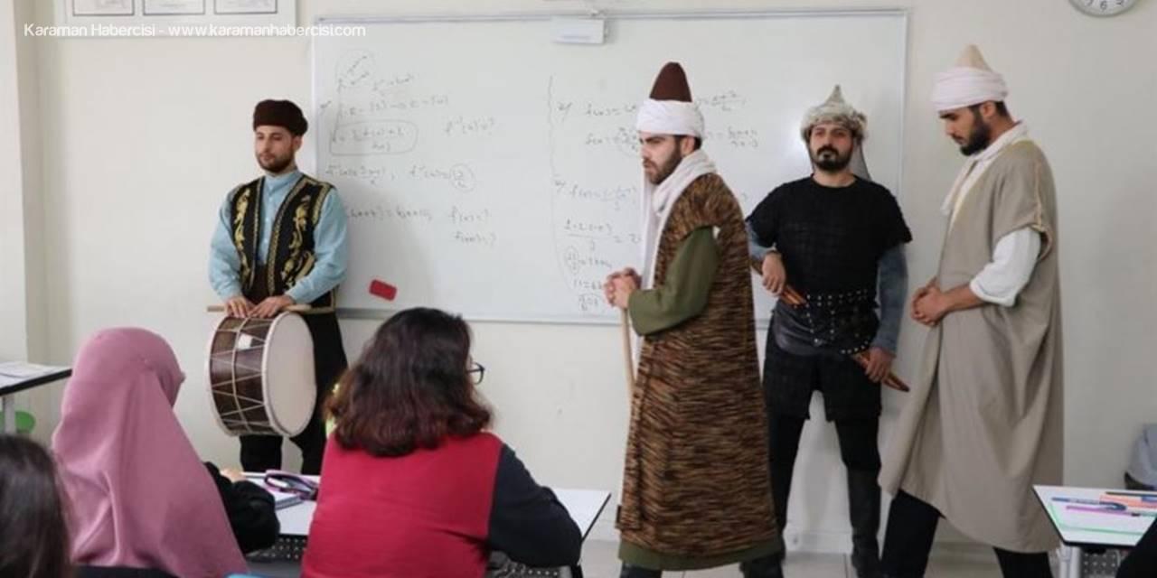 Karaman'ın Tarihi Şahsiyetleri Çat Kapı Öğrencilere Tanıtılıyor