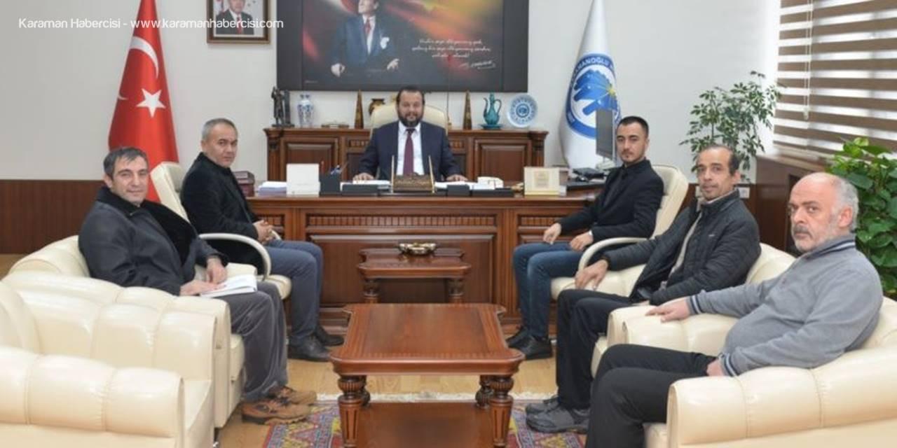İşitme Engelliler Derneğinden KMÜ Rektörü Mehmet Akgül'e Ziyaret