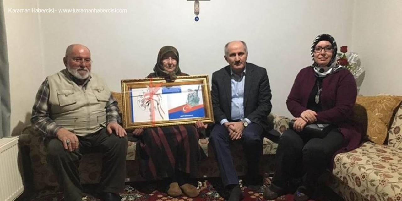 Karaman Valisi Fahri Meral ve Eşi Zehra Meral Şehit Ailesini Ziyaret Etti