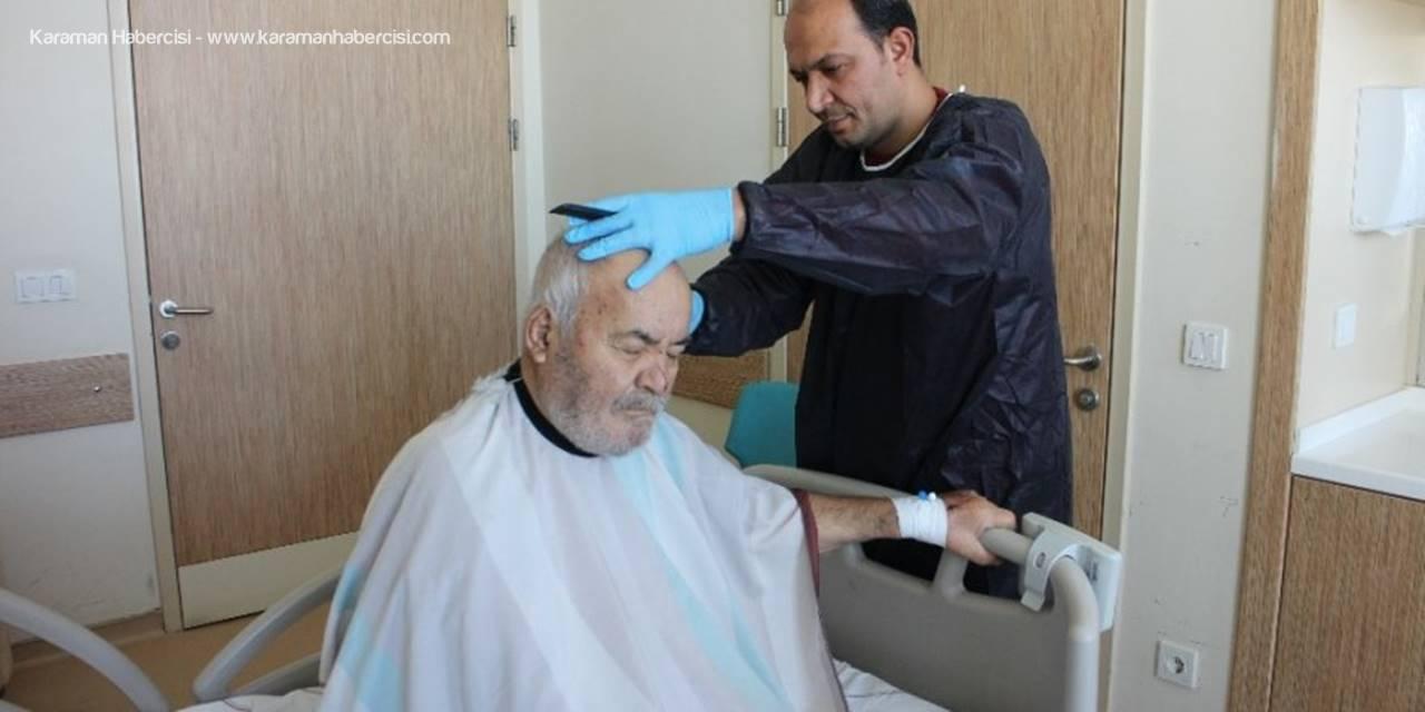 Karaman Devlet Hastanesinde Ücretsiz Tıraş Hizmeti