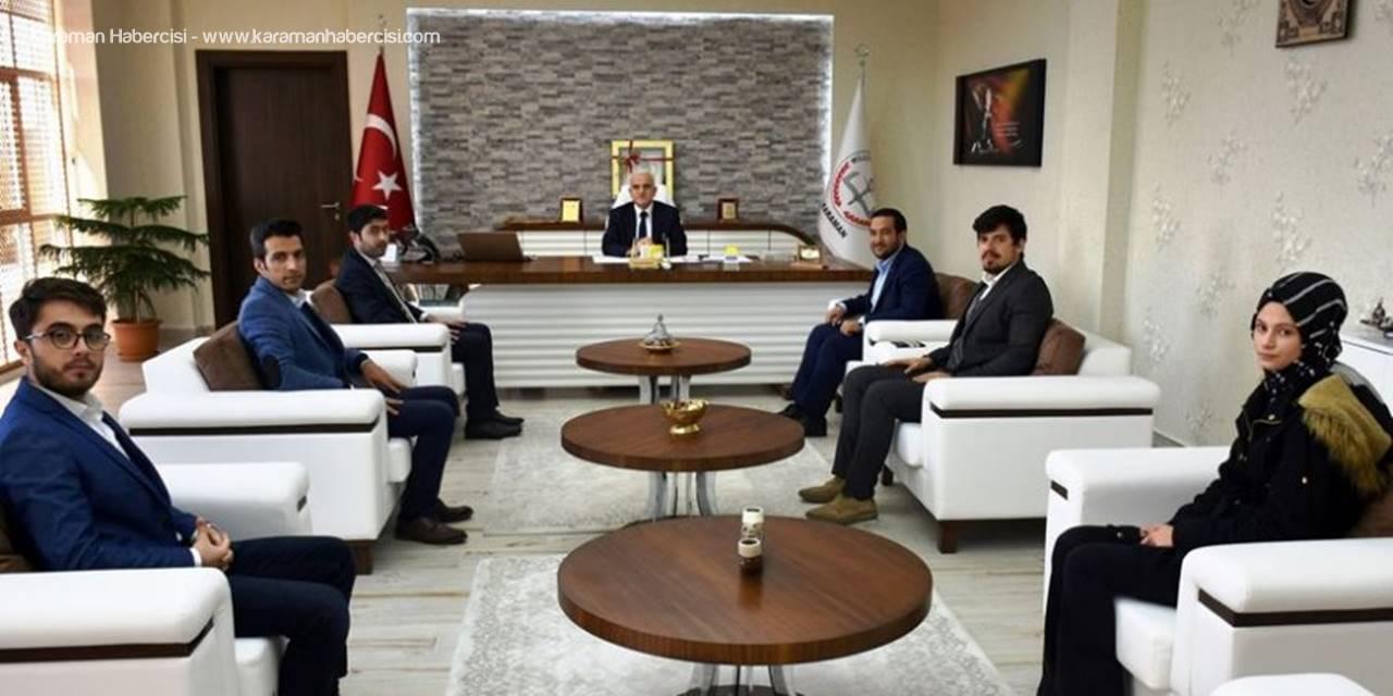 TÜGVA'dan Karaman İl Milli Eğitim Müdürü Mevlüt Kuntoğlu'na Ziyaret