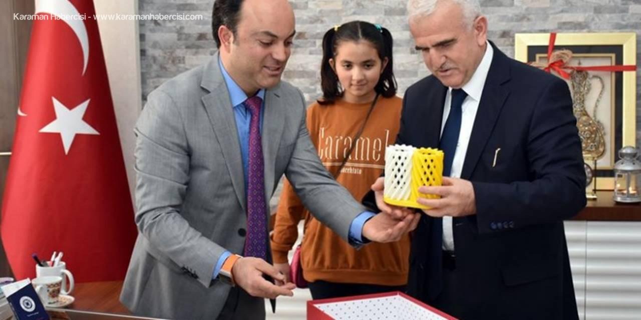 Karaman BİLSEM Projelerini İl Milli Eğitim Müdürü Mevlüt Kuntoğlu'na Anlattı