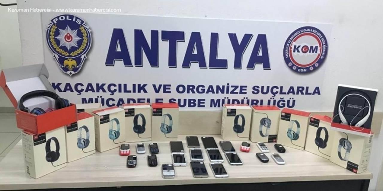 Antalya'da Kaçak Telefon Operasyonu