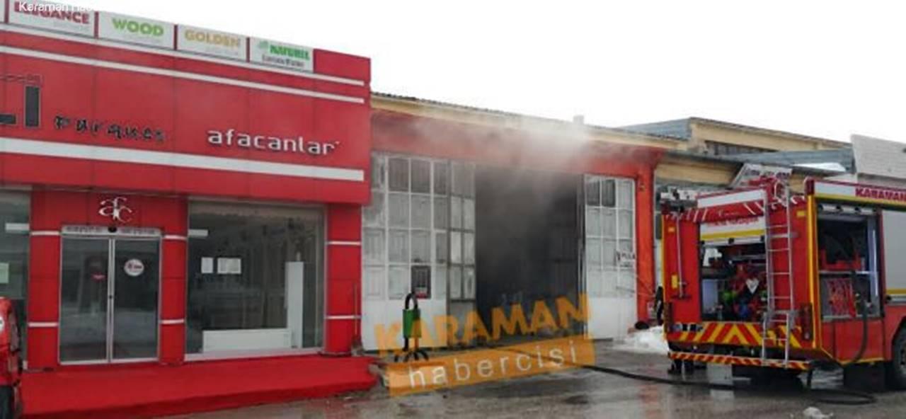 Karaman Orta Anadolu Sanayi Sitesinde İşyeri Yangını