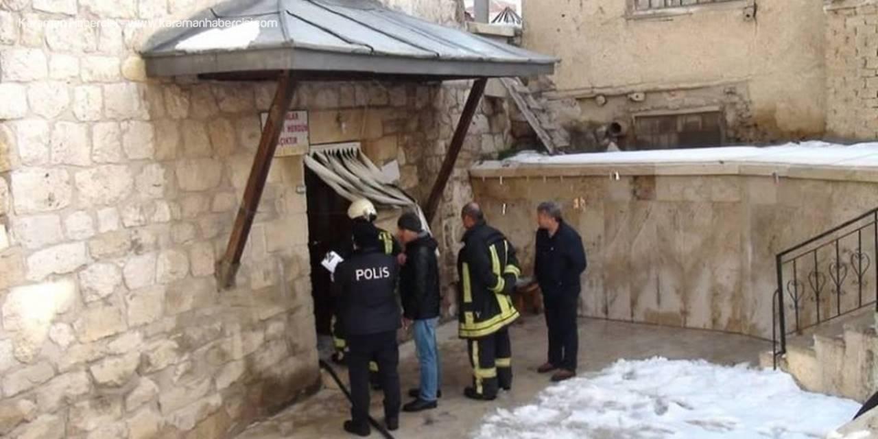 Karaman'da Tarihi Hamamda Yangın Paniği