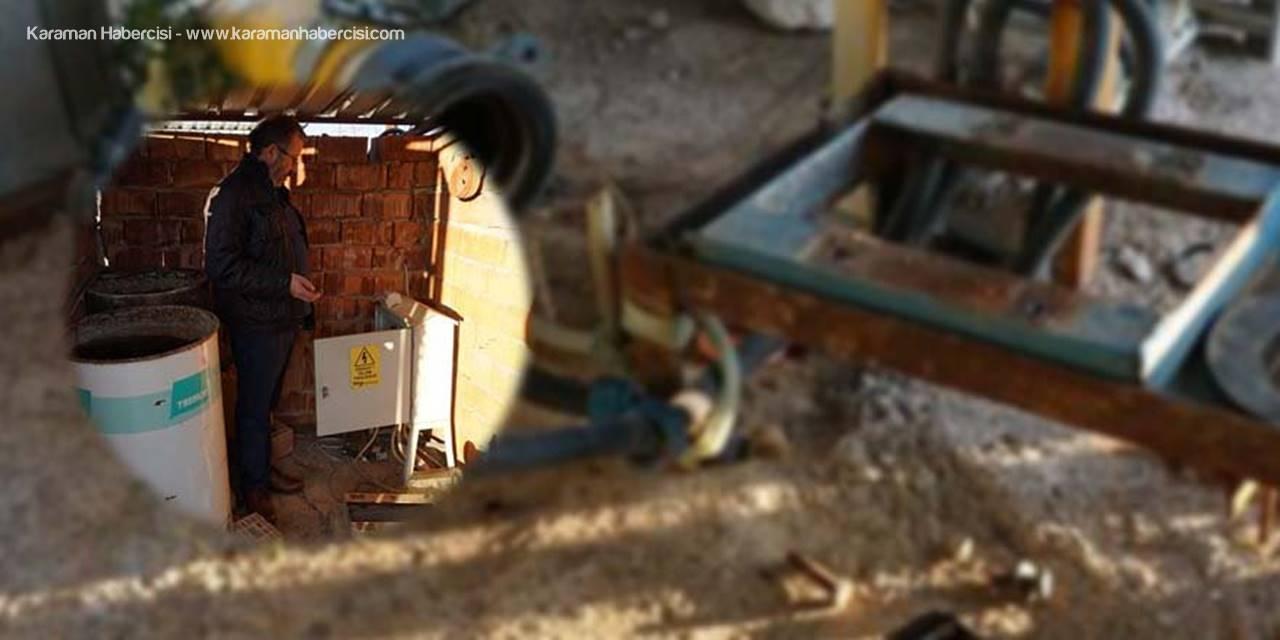 Antalya'da Kilitleri Kırıp Su Motorlarını Çaldılar