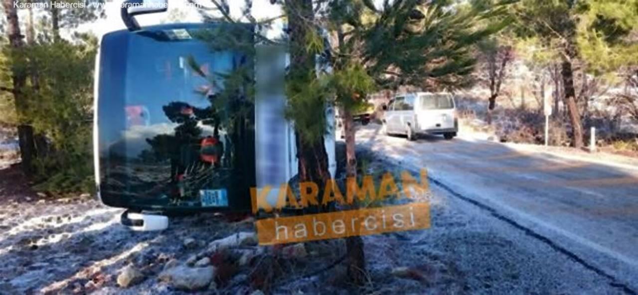 Anamur Karaman Ankara Otobüsü Kaza Yaptı