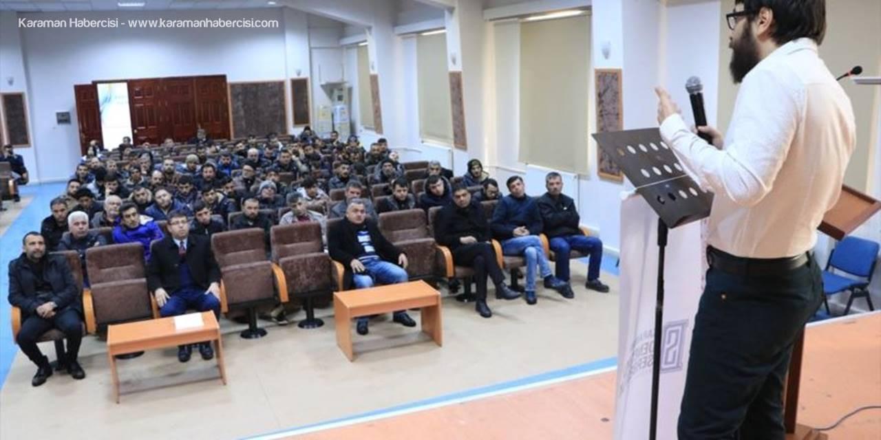 Karaman'da Hükümlülere Konferans Düzenlendi