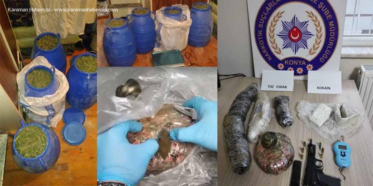 Konya Narkotikten Uyuşturucu Tacirlerine Darbe : 2 Gözaltı