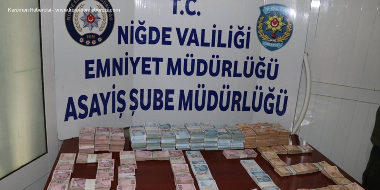 """Niğde'de 1,5 Milyon Lirayı Çalan Hırsızlar, """"Özel Ekip""""ten Kaçamadı"""